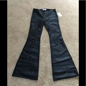 NWT! Free people SZ 27 black faux leather pants